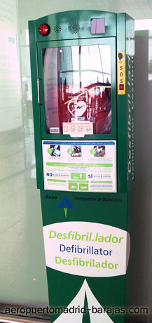 Defibrillator or Heart Rescue Area at Madrid Barajas