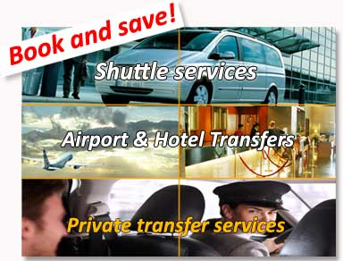 Shared and private traNsfers to and from Madrid airport